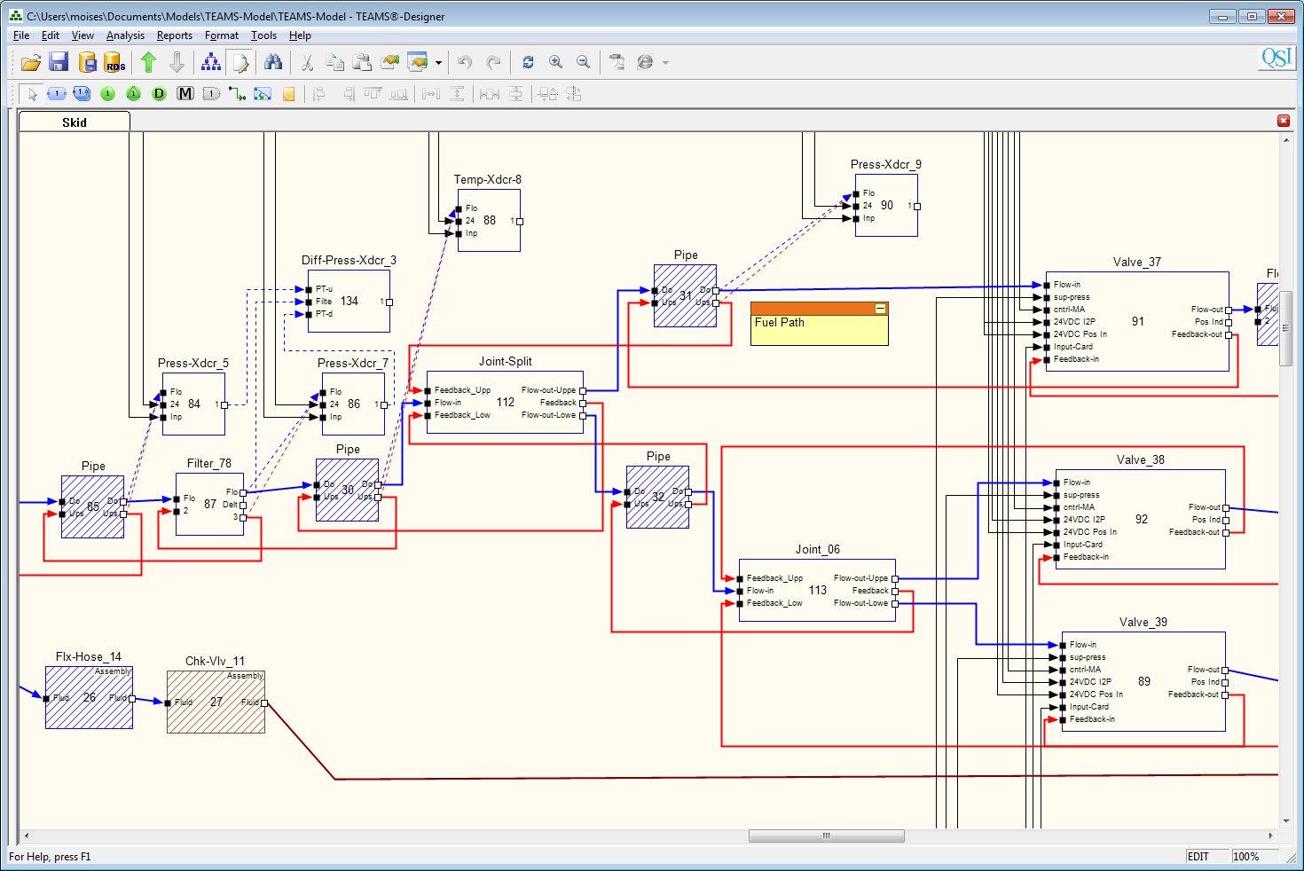 TEAMS-Designer Graphical User Interface
